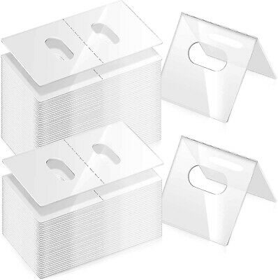 25 ☀Best Deal!☀ Clip-On Label Price Tag Upc Plastic Holders Wire Shelf Rack Tags
