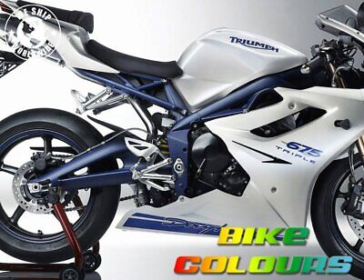 2 Stage Triumph Touch Up Paint Kit Daytona 675 Se 2009 - 2011 Frame Blue Pearl