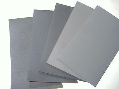 "12PC 1/2 SHEET 5 1/2"" x 9"" ASSORTED WET OR DRY SANDPAPER 600 GRIT TO 2000 GRIT"