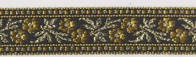 20mm Gold/Black Braid