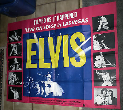 ELVIS PRESLEY original RARE 1971 30x40 Quad movie poster THAT'S THE WAY IT IS