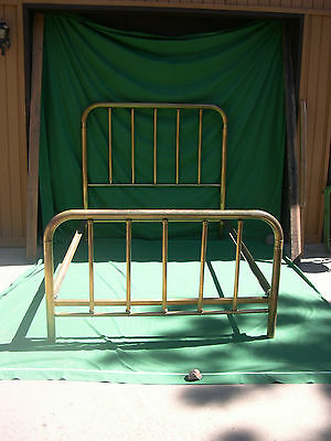 PAT 1911 SIMMONS COMPANY ORIGINAL BRASS PLATED DOUBLE BED