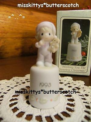 Precious Moments~Gingerbread~Thimble~530182~DATED 1993~Wishing You The Sweetest