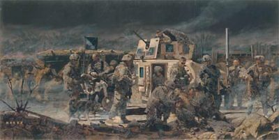 """At the End of the Day"" James Dietz Artist Proof - 3-509th Paratroopers in Iraq"
