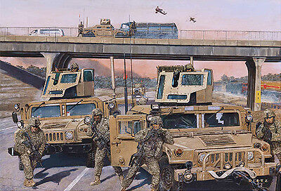 """Highway to Freedom"" James Dietz Print - 3-73 CAV Squadron, Iraq 2007"