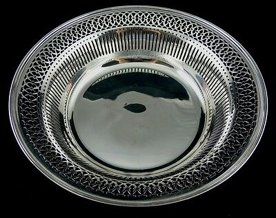 Plain Pierced Round Serving Bowl By J E Ellis & Co Toronto 1862