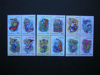 AUSTRALIA 2007 SIGNS OF THE ZODIAC FULL SET OF 12 MINT UNHINGED