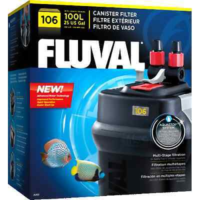 Fluval 106 External Aquarium Filter Plastic Fish Tank Filtration Cleaning Pets