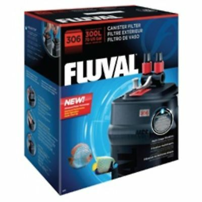 Fluval 306 External Aquarium Filter Plastic Fish Tank Filtration Cleaning Pets