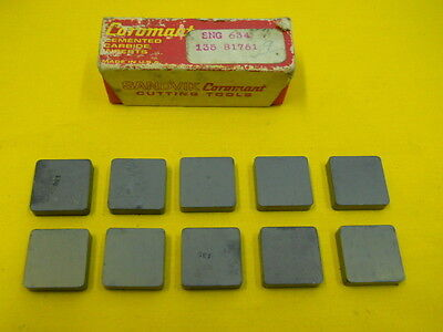 10 INDEXABLE CARBIDE CUTTING TOOL INSERTS lathe mill SANDVIK SNG 634