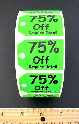 New!! Large Lot Of 4 Rolls! 75% Off Sale Price Retail Store Tags Labels Supplies