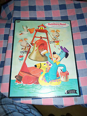 Vintage Child's Frame Tray Puzzle Hanna-Barbera's Huckleberry Hound No. 4428 Pai