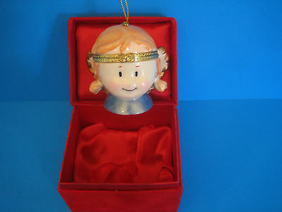 Porcelain Angel Hinged Top Christmas Holiday Ornament