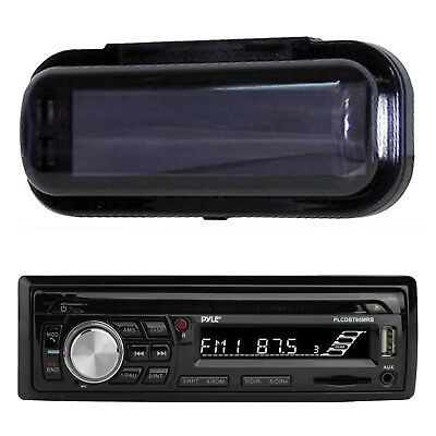 New Black PlCD13MR InDash Marine Boat Stereo CD MP3 WMA Player Radio W/Cover Pkg