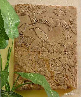 Detailed Museum Copy EGYPTIAN Tomb Relief of NILE WATER BIRDS, Saqqara 2460 BC