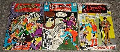 Adventure Comics Superboy Legion Of Super Heroes #363,378,388 Fine Adams Cover
