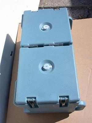 """CAMBRO CATERING CASE DOUBLE CAVITY 14"""" x 11.5"""" x 25"""" / individual 8.5"""" x 9 x 9.5"""