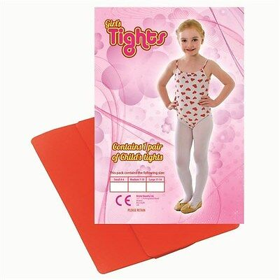 Girls Red Tights Age  11/14 Dance/Fancydress/ Halloween