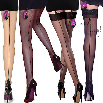 Seamed Back Line Tights Stockings Burlesque 40's 50's Seamer Vintage Retro Cuban