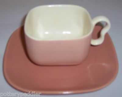 FRANCISCAN POTTERY METROPOLITAN CORAL DUO CUP/SAUCER!