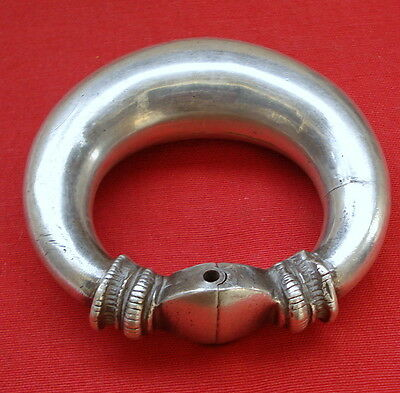 Vintage antique collectible tribal old silver bracelet bangle ECL rajasthan indi