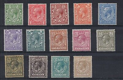 GV - 1912 Royal Cypher set x 14 values. Fine and fresh mtd mint (no green).