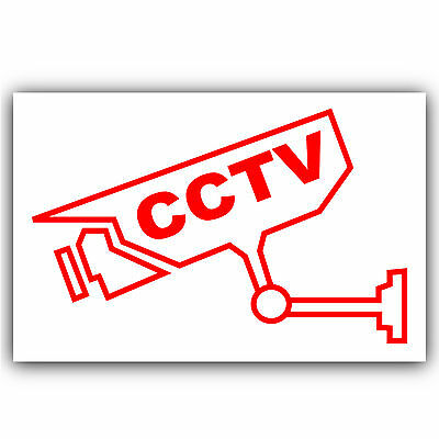 CCTV Camera Visual Warning Security Stickers -Home/Premises/Business/Shop Signs