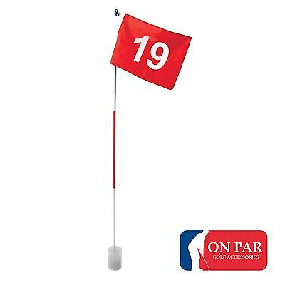 Golf Flag Pole & Cup - Number 19  Last Hole Putting Set Garden Training Aid Gift