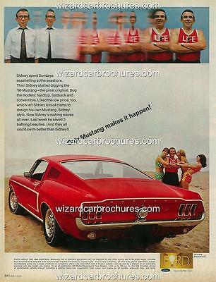 1969 FORD MUSTANG FASTBACK BOSS 302 A3 POSTER AD SALES BROCHURE ...
