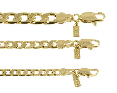 New 18K Gold Plated Cuban, Curb Chain Necklace/Bracelet - LIFETIME WARRANTY