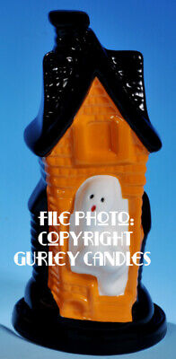 "Gurley ""Saf-T-Glo""  Candle Lamp - Haunted House"