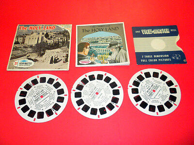 THE HOLY LAND Viewmaster PACKET 3 reels and booklet B226