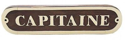 Türschild - CAPITAINE - Holz - Messing - sc-7650