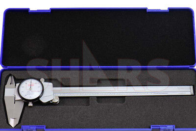 """8"""" Dial Caliper .001"""" Premium Shock Proof Stainless Steel + Inspection Report"""