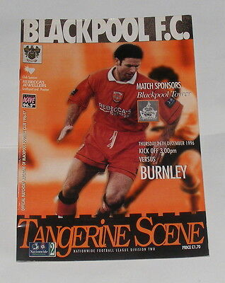 Blackpool -v- Burnley 1996-1997