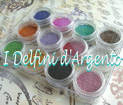 Microsfere decorative 12 colori microbeads