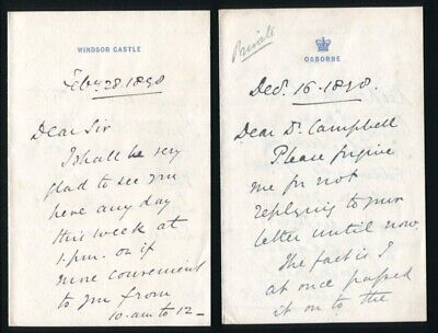 9 Letters Sir Arthur Bigge Lord Stamfordham To Royal Normal College For Blind