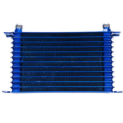 Mitsubishi Honda 13 Row 50Mm Engine Alloy Race Drag Blue Oil Cooler An10 Fitting