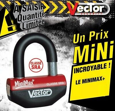 ANTIVOL U BLOQUE DISQUE VECTOR SRA MINIMAX + moto scooter