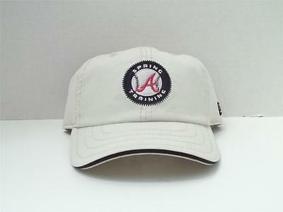 d4625527cb3a2b Atlanta Braves Spring Training Camp New Era Beige Hat Youth Up To 54Cm Free  Ship