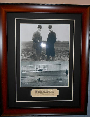 The Wright Brothers Wilbur & Orville Quote Photo Framed