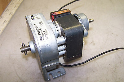 New Rex Engineering Electric Motor & Gear Reducer U-25568 115 Vac 16 Rpm