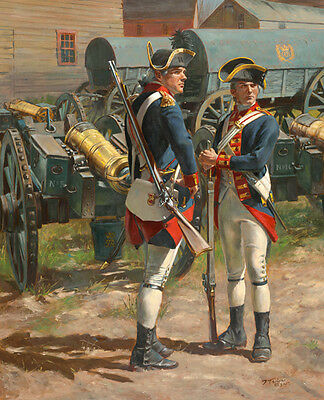 """The Royal Regiment of Artillery, 1775"" Don Troiani Canvas Giclee"