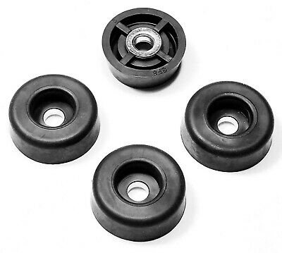 4 MEDIUM ROUND RUBBER FEET 0.859 W x 0.312 H - MADE IN USA / FREE S&H FOOD SAFE