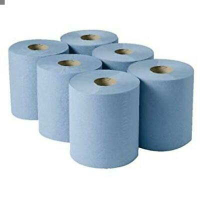 Blue Centre Feed Paper Hand Towels Pack Of 6 Car Valeting, Industrial Use