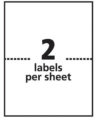 "250,000 Half Sheet Labels Premium  Quality 8.5"" x 11"" Made in The United States"