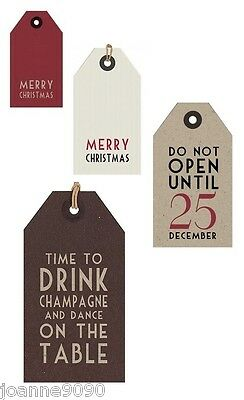 East Of India Merry Christmas Birthday Luggage Pack Of 6 Gift Tags Tag Labels Bn