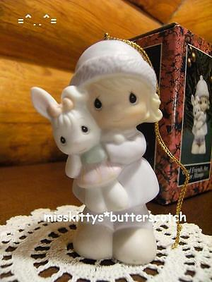 Precious Moments~ORNAMENT~Good Friends Are For Always~524131~Girl w Rabbit~heart