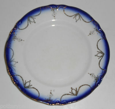 Flow Blue Imperial China Bread Plate With Gold Decoration!