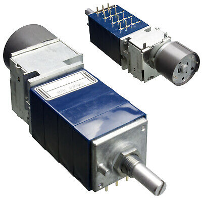 ALPS RK27114MC Motorpoti  4-fach quad Audio Dreh-Poti RK27 Potentiometer & Motor